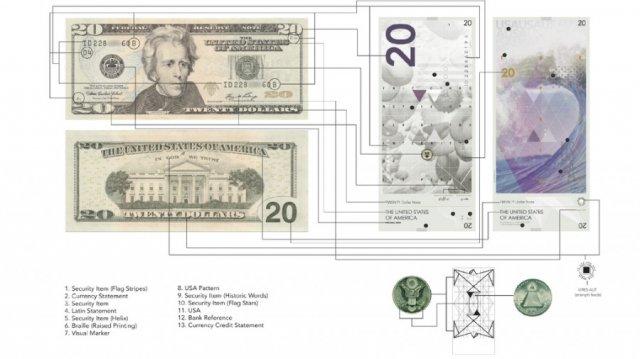 Новий дизайн американських доларів. Тепер без президентів (фото)