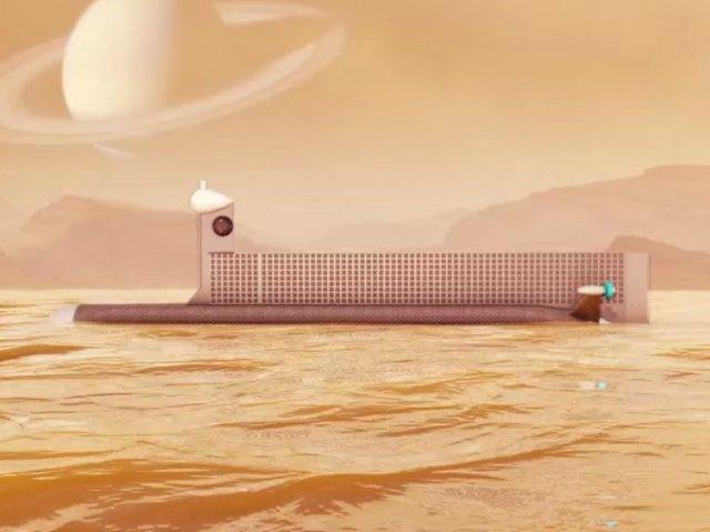 «Підводний човен» для дослідження морів Титана (відео)