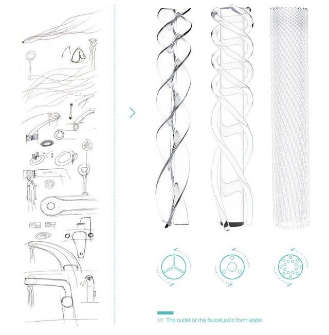 Студент розробив новий дизайн крана, який економить воду, перетворюючи струмінь у гарний візерунок