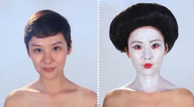 Як змінювався жіночий макіяж протягом всієї історії (відео)