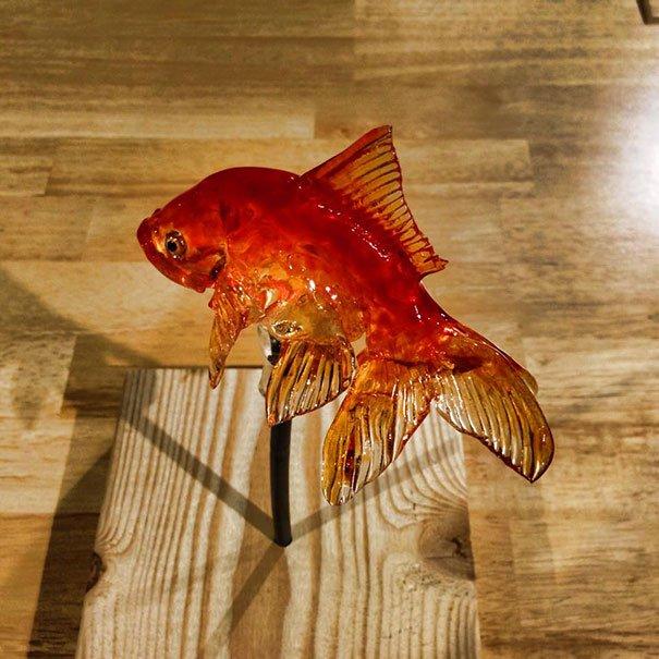 Японець виготовляє реалістичні льодяники у вигляді тварин (фото)