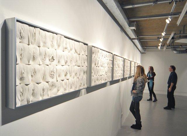 Протягом шести років скульптор творив «Велику стіну вагін» (фото, відео)