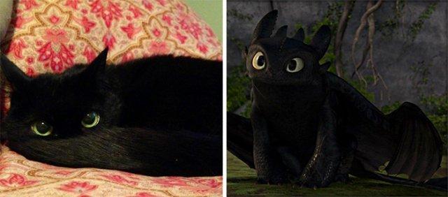 Дивовижні подібності мультперсонажів з реальними людьми та тваринами (фото)