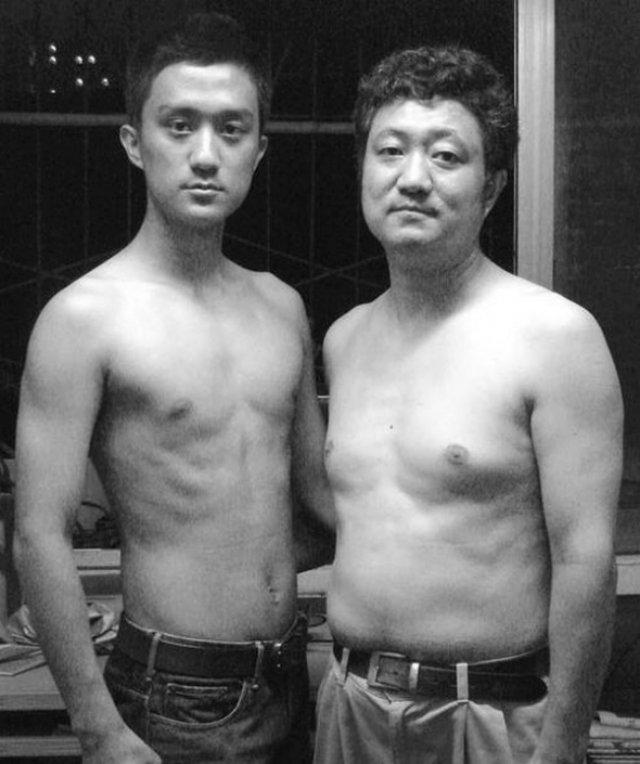 Зворушливі фото батька з сином, зроблені протягом 26 років (фото)