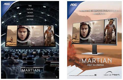 AOC – офіційний партнер фільму «Марсіанин»