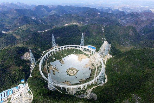 В Китаї будується 500-метровий радіотелескоп FAST (фото)