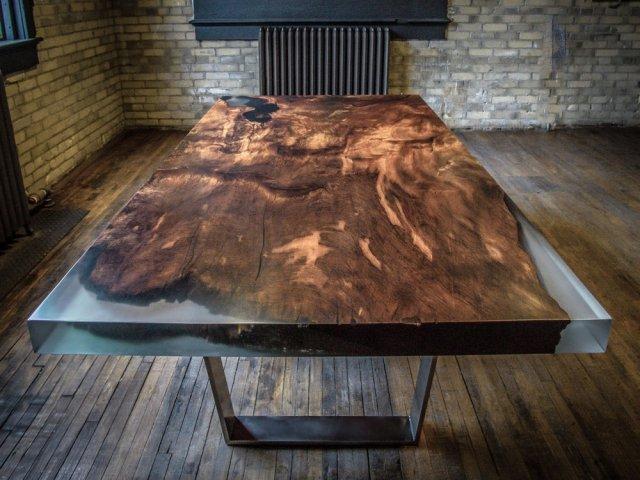 Як зробити оригінальні світні меблі з дерева та епоксидної смоли своїми руками? (фото, відео)