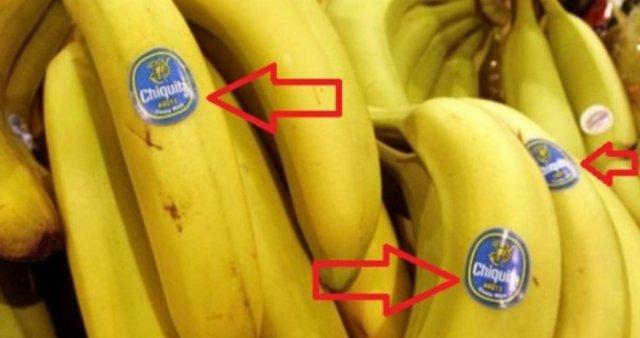 Що означають наклейки на бананах?