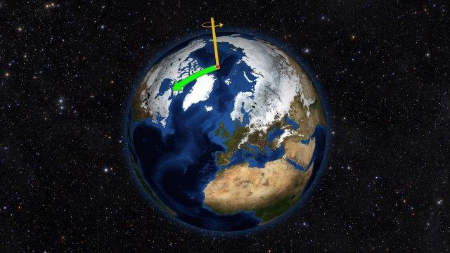 Люди посунули Північний полюс на схід