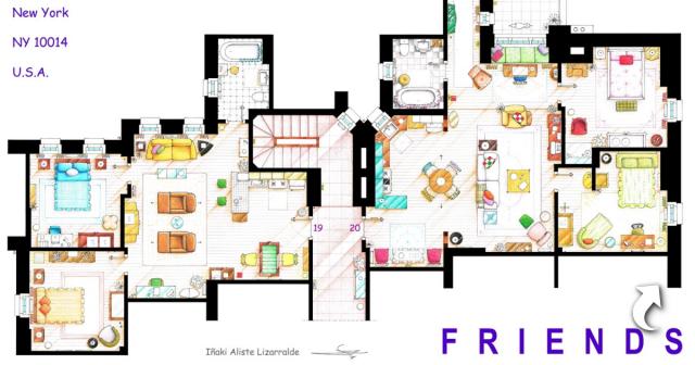 В яких квартирах живуть герої популярних серіалів?