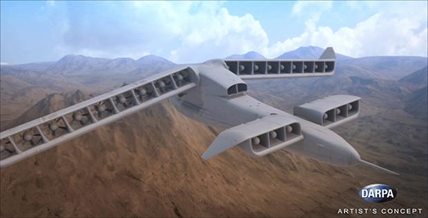 DARPA показало концепт електролітака з вертикальними зльотом і посадкою
