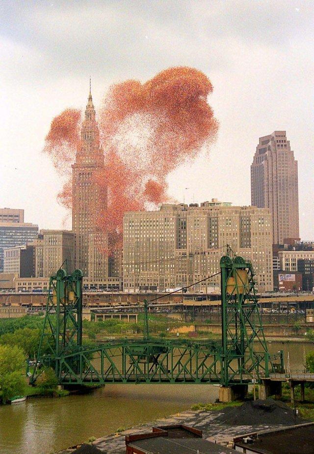 Чому запуск в небо півтора мільйонів повітряних куль скінчився погано