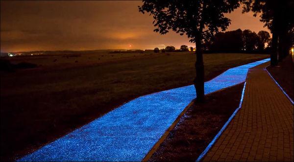 В Польщі побудували велодоріжку, яка світиться (фото)