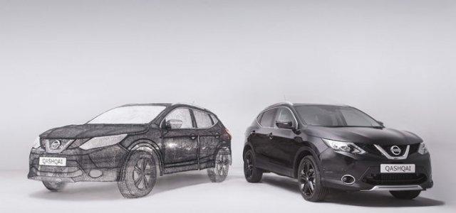 Автомобіль, намальований 3D ручкою (фото)