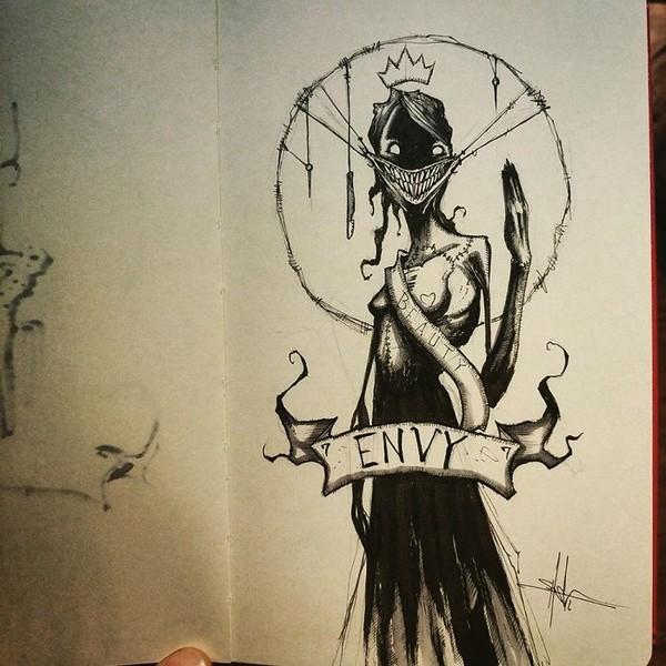 Сім смертних гріхів очима художника (фото)