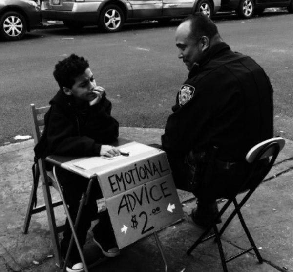 Емоційні поради в метро Брукліна (фото)