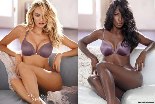 Чорношкіра модель відтворила рекламні знімки з білими дівчатами (фото)