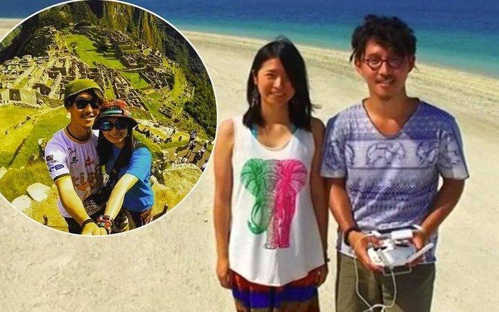 Японські молодята знімали свою весільну подорож навколо світу на квадрокоптер (відео)