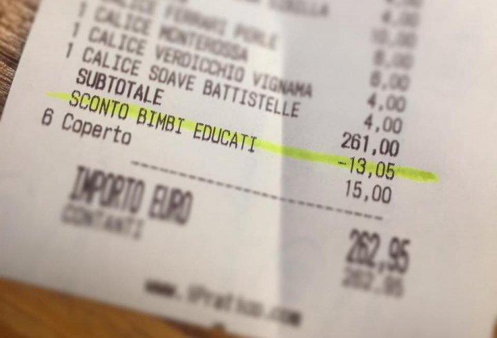 Ресторан пропонує знижку 5% сім'ям з чемними дітьми