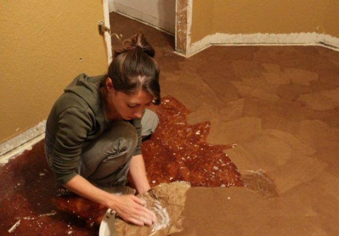 «Кам'яна підлога» з підручних матеріалів (фото)