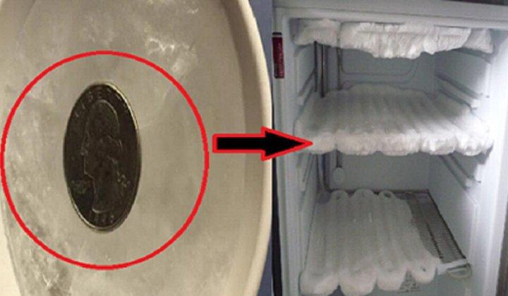 Як перевірити роботу морозилки за допомогою монети?