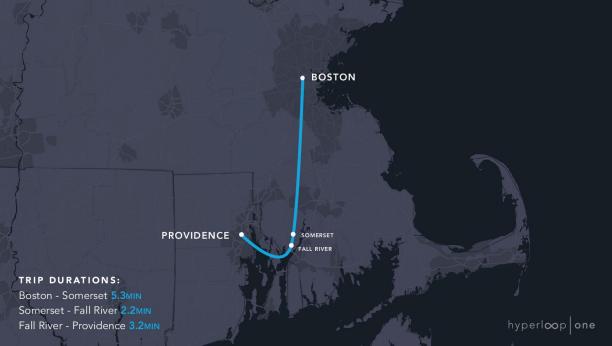 11 маршрутів Hyperloop One в США: 1800 км за 1 годину 48 хвилин