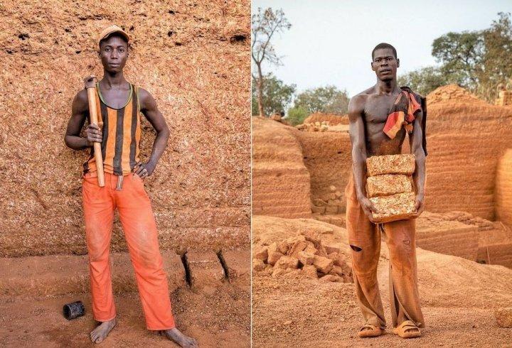 Як видобувають цеглу в Буркіна-Фасо (фото)