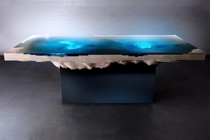 Дизайнерські столи, які імітують морську топографію (фото)