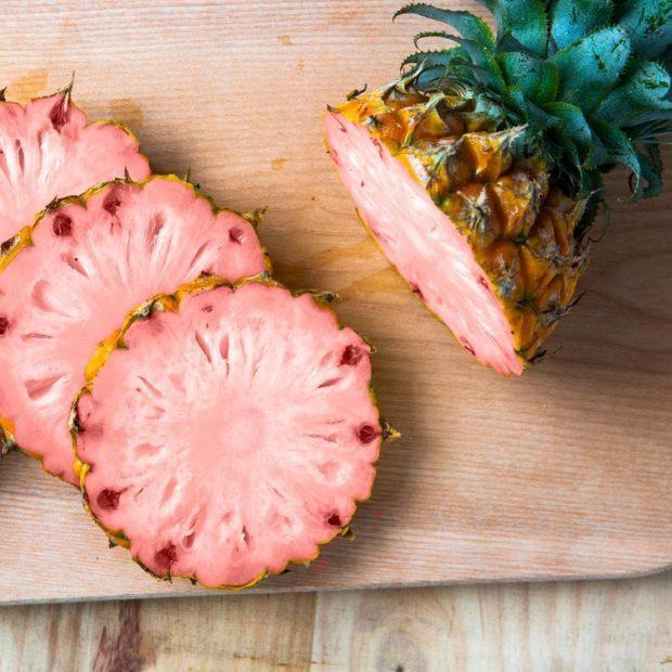 Рожевий ананас - шедевр генної інженерії (фото)