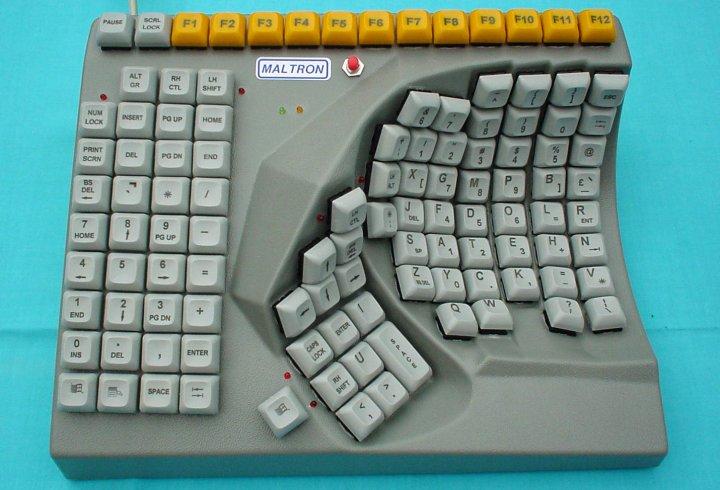 Клавіатура для однієї руки