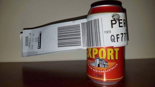 Багаж - тільки банка пива (фото)