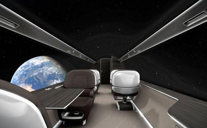 Літак з «прозорими стінами» (фото, відео)
