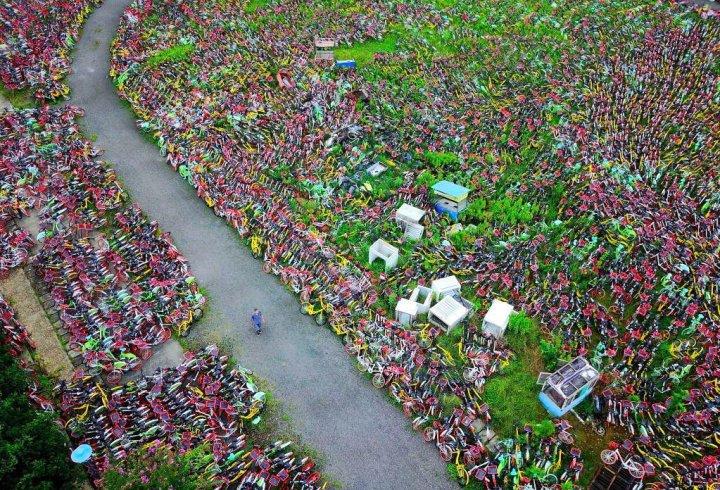 Покинуті велосипеди в Китаї (фото)