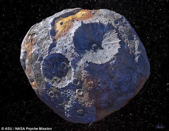 Астероїд з заліза, нікелю і золота, вартістю 10 тисяч квадрильйонів доларів