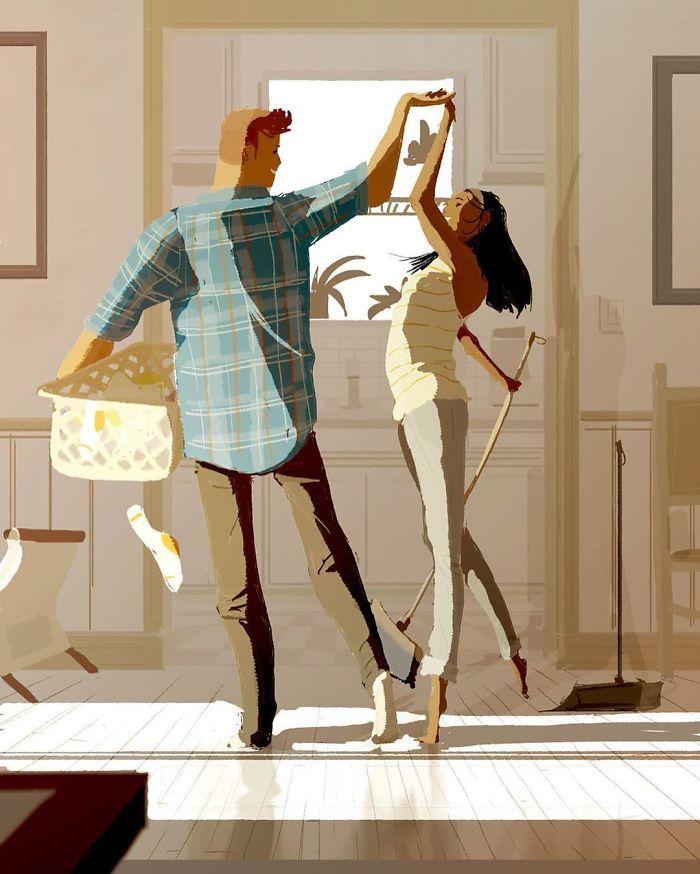 Паскаль Кампіон та його теплі малюнки про любов (фото)