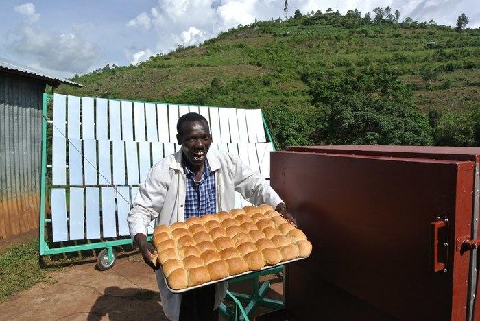 Хліб з сонячної печі (фото, відео)