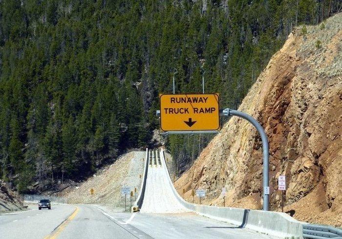 Рампа для аварійної зупинки вантажівок (фото)