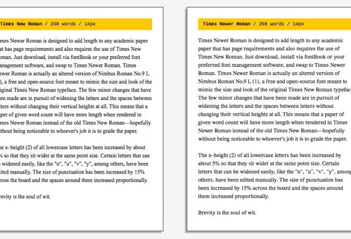 Розширений шрифт Times New Roman допоможе набрати потрібну кількість сторінок