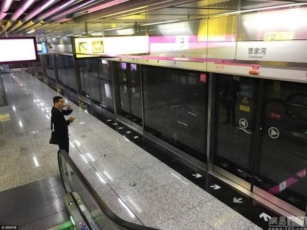 Станція метро серед китайських чагарників (фото)