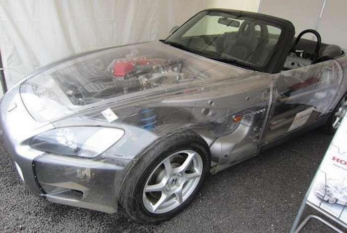 Повністю прозора Honda s2000 (фото)