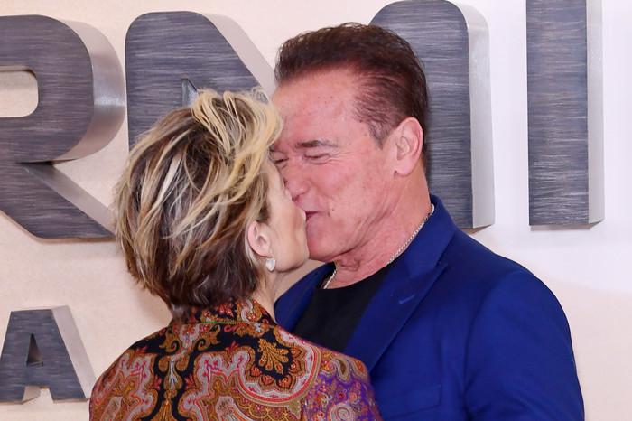 Термінатор і Сара Коннор поцілувалися на червоній доріжці (фото)