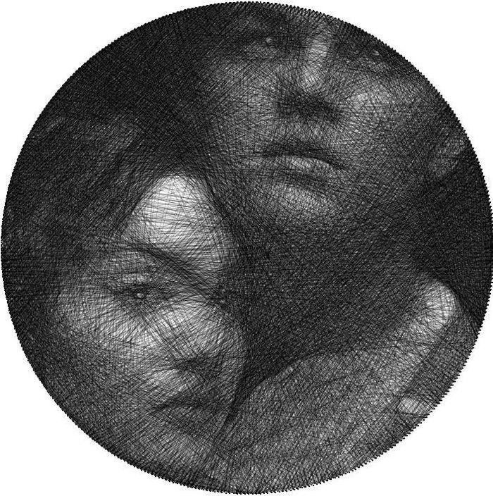 Приголомшливо точні портрети знаменитостей лише з однієї нитки (фото)