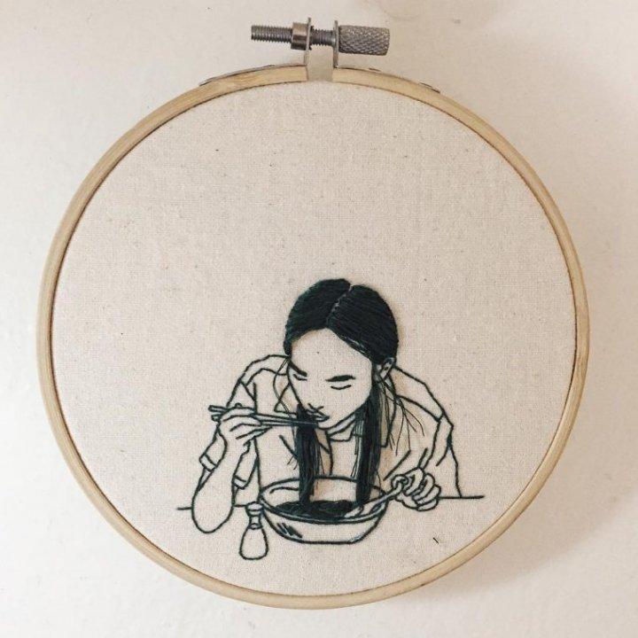 Шина Ліам та її 3D-вишивка (фото)