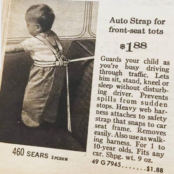 Якими були дитячі крісла 50 років тому. 12 дивних пристосувань (фото)