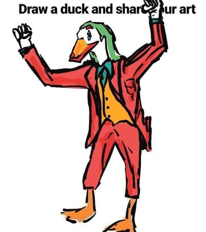 Звичайним людям запропонували завершити картинку качки