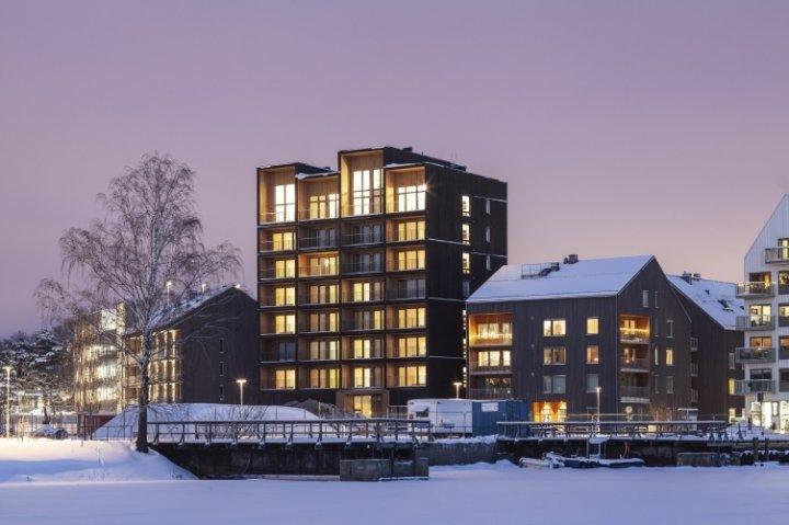 Найвища дерев'яна будівля Швеції (фото)