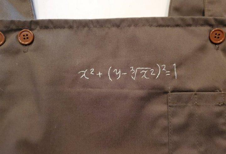 Японець отримав в подарунок від своєї дружини фартух, з вишитою формулою і почав вирішувати рівняння... (фото)