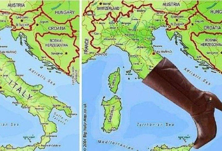 Італія схожа на чобіт, а на що схожі інші європейські країни?