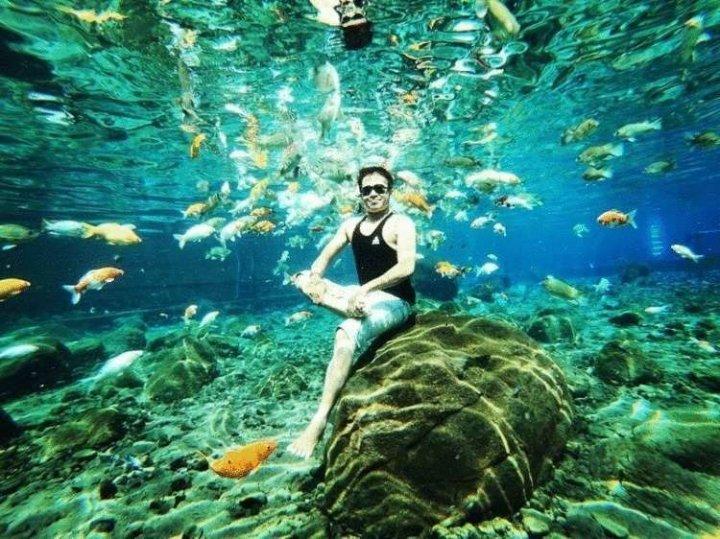 Сільський ставок в Індонезії став гарячою точкою підводного селфі (фото)