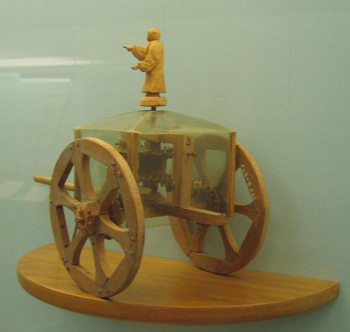 Давньокитайська колісниця, яка вказує на південь (немагнітний компас)